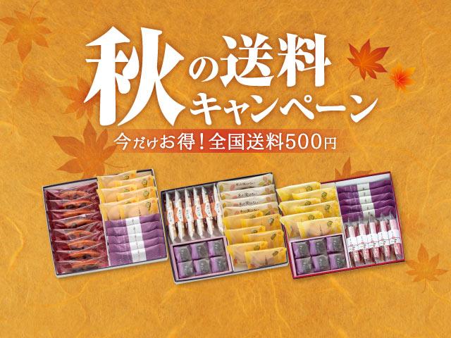 秋の送料キャンペーン 今だけお得!全国送料500円